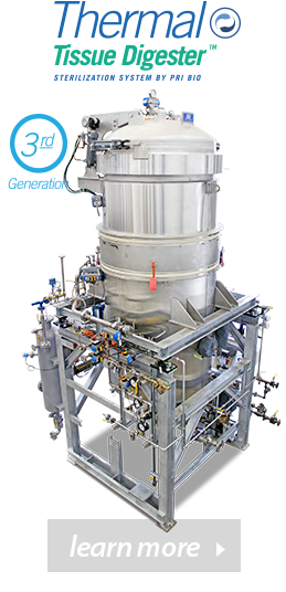 The Thermal Tissue Digester a sterilization system by PRI BIO. Learn more with our carcass treatment methods compared.