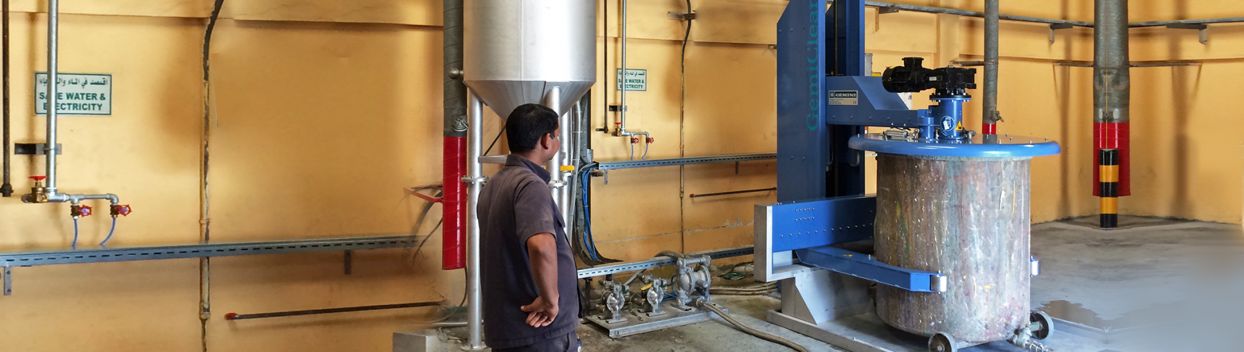GemiClean VW Installation with Distillation Tank